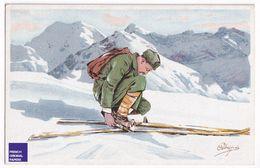 Illustrateur Pellegrini Editeur Vouga Genève Suisse - Sport Ski De Randonnée Neige Hiver Montagne Alpinisme A37-56 - Otros Ilustradores