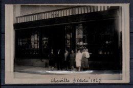 """92 - Chaville - Photo De Groupe Devant La Vitrine """" L'union Des Cooperateurs """" - 9 Octobre 1927 - Chaville"""