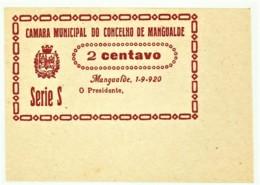 MANGUALDE - Cédula De 2 Centavos - Série S - M.A. 1316 - 1.9.1920 - Unc. - Portugal - Emergency Paper Money Notgeld - Portugal
