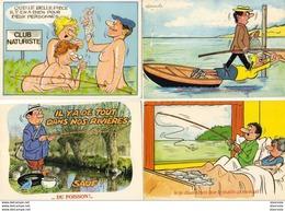 ILLUSTRATEUR ALEXANDRE Série Pêche Différentes Séries ........ Lot De 4 CP - Alexandre