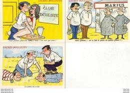 ILLUSTRATEUR ALEXANDRE  Sacrés Boulistes  Série 927/1-4-5 ........ Lot De 3 CP - Alexandre