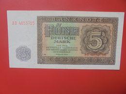 D.D.R 5 MARK 1948/52 7 CHIFFRES CIRCULER (B.17) - [ 6] 1949-1990: DDR - Duitse Dem. Rep.