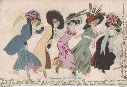 Illustration Signée Sager - Femmes élégantes - Avenue De L'Opéra - 2 Scans - Sager, Xavier
