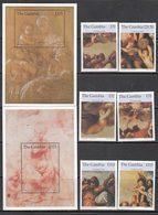 Gambia - Correo 1996 Yvert 2154/9+H.313/4 ** Mnh  Navidad. Pinturas - Gambia (1965-...)