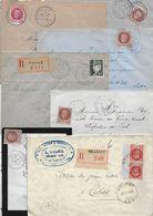 Lot De 14 Env. Département Du LOT - Affr. Et Obl. - Marcophilie (Lettres)