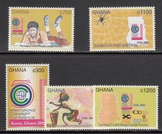 Ghana - Correo 2002 Yvert 2773/7 ** Mnh - Ghana (1957-...)