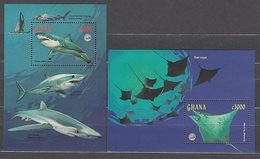 Ghana - Hojas Yvert 352/3 ** Mnh  Fauna Marina - Ghana (1957-...)