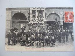 Abbeville    Compagnie Des Sapeurs Pompiers D Abbeville Année 1907 - Abbeville