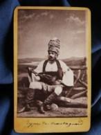 Photo CDV Pauk Zepdji à Salonique -  Type De Montagnard Circa 1880 L495 - Anciennes (Av. 1900)
