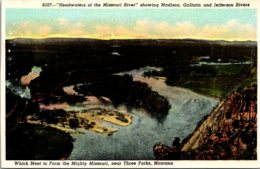 """Montana Three Forks """"Headwaters Of The Missouri River"""" Showing Madison Gallatin And Jefferson Rivers - Etats-Unis"""