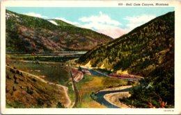 Montana Hell Gate Canyon Curteich - Etats-Unis