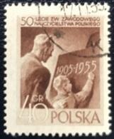 Polska - Poland - Polen - P1/9 - (°)used - 1955 - 50 Jaar Lerarensyndicaat - Michel Nr. 952 - Used Stamps