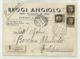 SIENA - BROGI A. CEREALI E CRUSCAMI 1937 VIAGGIATA FG - Siena