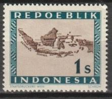Repoeblik Indonesia 1947   1 Sen Map Of Indonesia 1947 MNH** - Indonesien