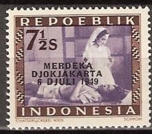 1949 Repoeblik Indonesia -7,5  Sen 'Merdeka Djokjakarta 6 Juli 1949'  Ongestempeld. See Description. - Indonesia