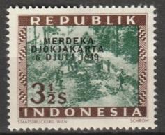 1949 Republik Indonesia Merdeka Djokjakarta 3,5 Sen MH* Ongestempeld. See Description - Indonesia