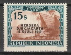 1949 Republik Indonesia 15 Sen Merdeka Djokjakarta EXPRESS MH* Ongestempeld. - Indonesia