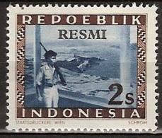 Repoeblik Indonesia 1948 Service - RESMI 2 Sen Soldaat, Soldier Ongestempeld. See Description - Indonesia