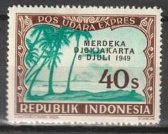 1949 Republik Indonesia Merdeka Djokjakarta 40 Sen Pos Udara EXPRESS MH* Ongestempeld. - Indonesia