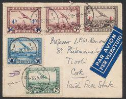 Poste Aérienne - PA1, 3, 4, 6 Et 7 Sur Lettre Par Avion De Brugge (1938) Via Bruxelles > Irish Free State - Posta Aerea