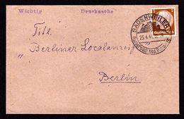 DR Brief Drucksache BADENWEILER - Berlin - 23.4.41 - Mi.513 Mit OWS Kurort Südl. Bad.Schwarzwald - Deutschland