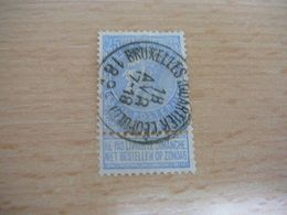 (12.07) BELGIE 1893 Nr 60  Mooie Afstempeling BRUXELLES - 1893-1900 Schmaler Bart