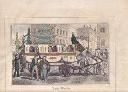 Les Nouvelles Voitures  Publiques De Paris Par Loeillot Vers 1820 - 16 Lithographies Polychromes - Calberson 1954 - Litografía