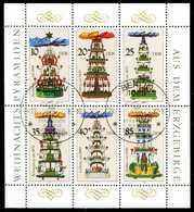 DDR BLOCK KLEINBOGEN Nr 3134-3139 KLEINBG S2977E2 - Blocks & Sheetlets