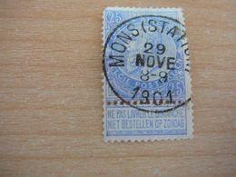 (12.07) BELGIE 1893 Nr 60  Mooie Afstempeling MONS-STATION - 1893-1900 Schmaler Bart