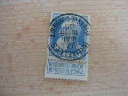 (12.07) BELGIE 1905 Nr 76  Mooie Afstempeling BRUXELLES - 1905 Thick Beard