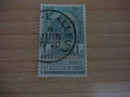 (12.07) BELGIE 1893  Nr 53  Mooie Afstempeling - 1893-1907 Wappen