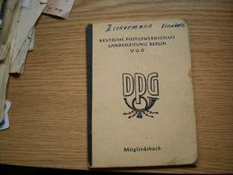 DPG Mitgliedsbuch Stamps - Historische Dokumente