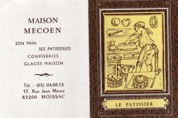 Le Patissier - Maison Mecoën Son Pain Patiserie Confiserie Glace Maison 82 Moissac - 1985 - Petit Format : 1981-90