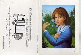 Service De Nettoiement De La Ville De Moissac Présente Ses Meilleurs Voeux 1983 Art Peinture Bonamy Galerie Guigné Paris - Petit Format : 1981-90