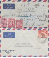 Iraq: 2x Letter 1955 Air Mail Baghdad To Hanau/London - Irak