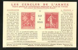 AK Les Cercles De L`Armee, Briefmarken Dutschlands Und Frankreichs - Francobolli (rappresentazioni)