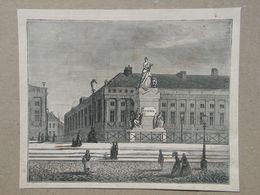 Brussel/Bxl. Martelarenplein/Place Des Martyrs. Gravure 1885. - Historische Dokumente