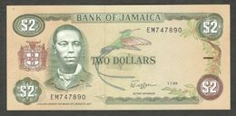 Jamaica 2 Dollars 1989 UNC- - Jamaique