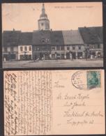 Löwen Gruß Aus Ak Nördliche Ringstraße Mit Kirche Geschäfte Friseur, 5.7.1908 Bahnpost Breslau - Oswiecim  ZUG 276 - Schlesien