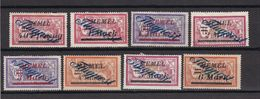 Memelgebiet - 1922 - Michel Nr. 72 + 74/75 + 77/78 + 80/82 - Ungebr. O. Gummi - Memelgebiet