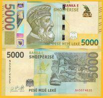 Albania 5000 Leke P-new 2019 UNC Banknote - Albanië