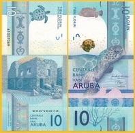 Aruba 10 Florin P-new 2019 UNC Banknote - Aruba (1986-...)