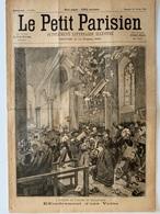 Le Petit Parisien / Février 1896 / Accident Dans L'église De Maulévrier, Près De Cholet, Effondrement De Voute, 4 Morts - 1850 - 1899