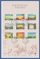 Südafrika FRAMA-ATM Landschaften Mi.-Nr. 14-22 Auf Offiz. Ersttagsblatt - Vignettes D'affranchissement (Frama)