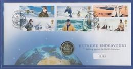 Großbritannien Coin-FDC 2003, Extremleistungen Im 20. Jh., Mit 1-Pfund-Münze - Great Britain