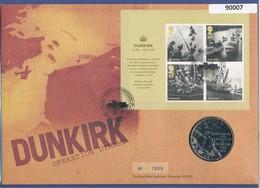 Großbritannien Coin-FDC 2010, Evakuirung Von Dünkirchen 1940, Mit Gedenkmedaille - Great Britain