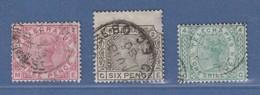 Großbritannien 1876 Telegraphenmarken, 3 Gestempelte Werte - Non Classificati