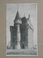 Brussel / Bruxelles. Hallepoort / Porte De Hal. Gravure 1885. - Historische Dokumente