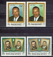 Jemen-Nord / North Jemen - Mi-Nr 855/858 Postfrisch / MNH ** (H474) - Martin Luther King