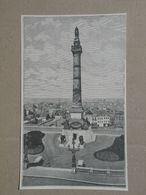 Brussel / Bruxelles. Congreskolom / Colonne Du Congrès. Gravure 1885. - Historische Dokumente